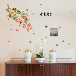 $enCountryForm.capitalKeyWord Australia - flower butterfly wall stickers home decor living room bedroom kitchen Traditional Chinese wall decals poster murals