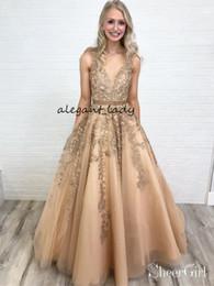 $enCountryForm.capitalKeyWord Australia - Long Lace Applique Prom Dresses 2019 Real Image Dusty Rose Pink Crochet Lace Vintage V-neck Full length Occasion Evening Wear Dress