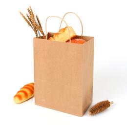 $enCountryForm.capitalKeyWord Australia - kraft Paper Bread Bags Recycled Gift Hand Bags Supermarket Bag for Baking Portable Heavy Duty Paper Tote Wedding Shopper Bag