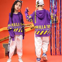 Jazz Dance Suit Australia - Children'S Girls Dance Wear Hip Hop Suit Jazz Dance Costume Unisex Plus Velvet Clothes Boys Street Clothing Tide DL3266