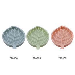 $enCountryForm.capitalKeyWord Australia - household storage Leaf shape soap box shower tray hiking bath house container holder travel soap dish candy color Tray Container DT0001