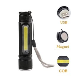 mini pen torch Australia - Portable Led Flashlight COB LED Pen Light Clip Magnet 5000LM USB Rechargeable Work Torch Inspection Lamp