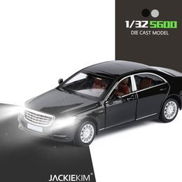 Die cast toys online shopping - New Licensed Alloy Model Luxury Cars Maybach S600 Die Cast Vehicle Model Car With Light Music For Kids Toy Car