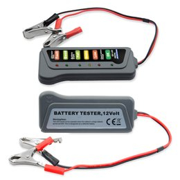 Car Lights Australia - 12V Digital with 6 LED Lights Display Battery Testers Alternator Car Vehicle Diagnostic Tool For Car Motorcycle circuit tester