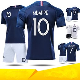 Custom 24 blaCk gold online shopping - French Jersey suit World Cup Star Mbappe Gritzmann football suit custom