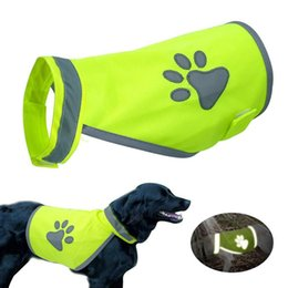 hair vests Australia - Pet Clothes Reflective Costumes Casual Walking Outdoor Exercise Safety Night Dog Vest Hiking Fashion Puppy High Visibility