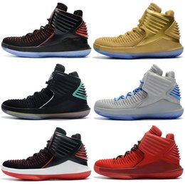 top best basketball shoes Australia - 32 Top Hight Cut 2019 mens Kids Retro Basketball Shoes New Black Gold Red Yellow Blue Grey Sport Best Runner Shoes Sports 32s Sneakers