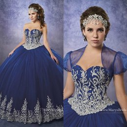 $enCountryForm.capitalKeyWord Canada - 2019 Royal Blue Quinceanera Dresses Sweetheart vestidos de quinceaner Lace Appliques Ball Gown Prom Dress sweet 16 dresses