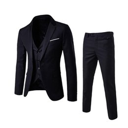 $enCountryForm.capitalKeyWord Australia - Mens Sets Clothes Slim Fit Wedding Garment Groomsmen Clothes Brothers College Students Handsome Small Suits Banquet Meeting