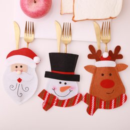 $enCountryForm.capitalKeyWord Australia - Santa Hat Reindeer Christmas New Year Pocket Fork Knife Cutlery Holder Bag Home Party Table Dinner Decoration Tableware 62423