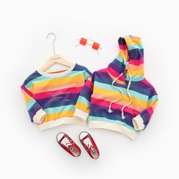 toddler boy 4t Australia - Toddler Baby Girls Kids Rainbow Striped Clothes Little Boys Letter Printed Sweatshirt Tops Cotton Long Sleeve Shirts Clothing T191013