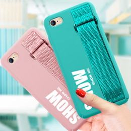 Cellphone Cases Designs Australia - Wholesale Cellphone Cases TPU With Wristband Cover Fashion Design Protector for iPhone X XR XS Max 6 6s 7 8 Plus