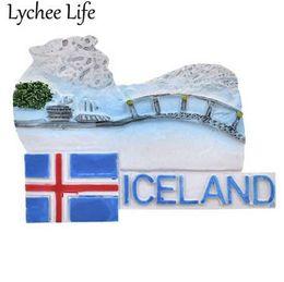 $enCountryForm.capitalKeyWord NZ - Lychee Life Iceland Science Refrigerator Magnetic Sticker Famous Landscape Fridge Magnet Souvenir Modern Home Kitchen Decoration
