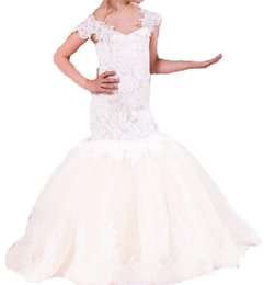 Kids Graduation Clothes Australia - New Long Sleeves Flower Girl Dresses Mermaid Holiday Party Dresses Kids Dress Girl Clothing Formal Occasion