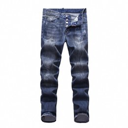 Trousers Size 38 UK - 19SS The latest Italian men's hollow high-quality jeans hip-hop logo designer trousers men's size 28-38 new model DN16