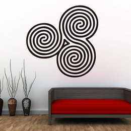 decor designs Australia - 1 Pcs New Style Spirals Mandala Wall Decals Yoga Practicing Room Decorative Easy To Transfer Wall Sticker PVC Design Home Decor