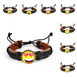 $enCountryForm.capitalKeyWord Australia - Womens Emoticon Cute Pattern Bracelet Neutral Alloy Yellow Smile Emoji Expression Braid Band Bracelet Multi-layer Bracelets M434Y