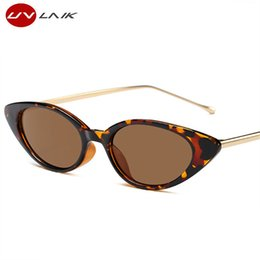 $enCountryForm.capitalKeyWord Australia - Mode Cat's Eye Sunglasses Of Women Metal Mark Designer Legs Small Cateye Tones Uv400 Egg Sunglasses For Women Present