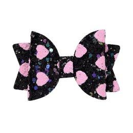 $enCountryForm.capitalKeyWord Australia - INS Baby Girls Love Heart Glitter Hairpins Kids Sequin Love Bowknot Hair Clip Hairpins Princess Barrettes Headwear Hair Accessories 30pcs