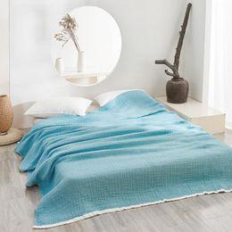 Wash Towels Australia - 190X230CM Home Textile Blue Wash Gauze Towel Blanket Soft 100%Cotton Coffee Summer Air Conditioning Bedspread Thin Comforter