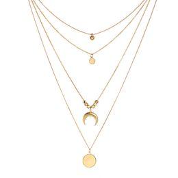$enCountryForm.capitalKeyWord Australia - Necklaces & Pendants Style Moon Alloy Multi-Layer Necklace,Fashion Vintage Moon Pendant Choker Necklace with Chain for Women Statement Boho