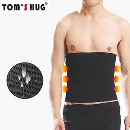 body slimming waist trimmer belt Canada - Waist Slimmer Support Brace Lose Weight Body Shaper Trainer Tom's Hug Breathable Slimming Belt Tummy Trimmer Sport Waist Support