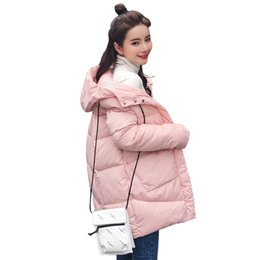 winter women down parka padded Canada - Thick Warm Hooded Long Down Parkas Women Down Jacket Winter Coat Cotton Padded Jacket Woman Winter Jacket Coat Female T190830