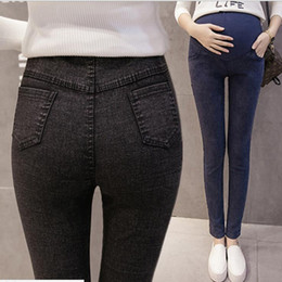 f583ecd6997ca new adjustable maternity skinny jeans pregnant woman belly pants abdominal  trousers belly pants Pregnancy Jeans pants
