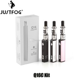 $enCountryForm.capitalKeyWord Australia - 100% Original Justfog Q16C Starter Kit Upgraded Q16 900mAh Variable Voltage J-Easy 9 Battery 1.9ml Childproof Clearomizer