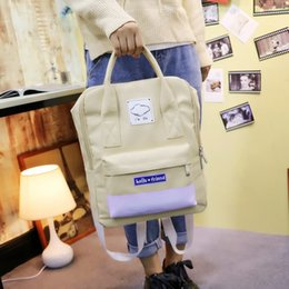 Wholesale Free2019 Bag A Original Old High Middle School Student Printing Canvas Small Fresh Backpack Woman Both Shoulders Package Portable