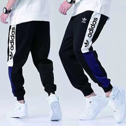 Track leTTers online shopping - Fashion Designer Pants For Mens Brand Track Pants joggers With AD Letters Luxury Men Sweatpants Drawstring Stretchy Joggers Clothing