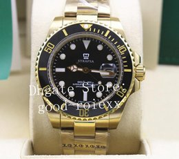 Luxury men watches chronometer online shopping - Luxury Mens Automatic Sapphire Crysta Gold Watch Men Black Ceramic Sport Dive Chronometer Date Sub Luminous Oyster Watches