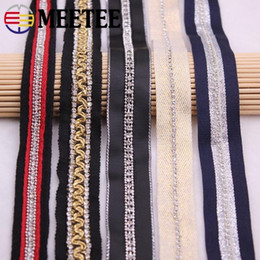 rhinestone chain trimming wholesale Australia - Meetee 19-25mm Rhinestone Chain Webbing Lace Trims Headwear Ribbon DIY Home Textile Sweing Clothing Accessories BD238