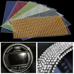Crystal adhesive stiCker online shopping - 3mm DIY Crystals Rhinestones Car Decor Decal Styling Accessories Mobile pc Art Diamond Self Adhesive Stickers Decor Decal