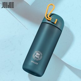 tritan plastic UK - JOUDOO New Brief Tritan Plastic Water Bottle Sport 350ML 500ML Outdoor Hand Cup With Infuser Travel Portable Bottle Of Water 35