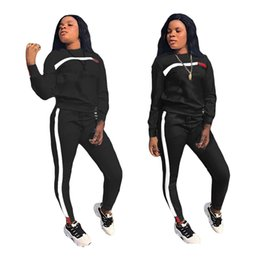 Originals tracksuit online shopping - Women Knit Embroidery Championship Letter Sport Tracksuit long sleeve O Neck outfits Pants Piece Set With Original Logo Size S XL CY110