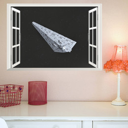 $enCountryForm.capitalKeyWord Australia - 3D False Window Wall Decor Space Ship Wall Stickers Drawing Room Bedroom Home Decor DIY Scenery Poster Mural Wallpaper Wall Decals