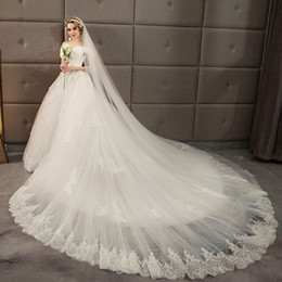eeeff6ab2c Dream Wedding Dresses Long Train Online Shopping