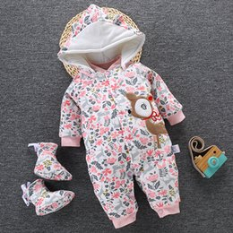 Winter rompers for toddler girls online shopping - 2019 Baby Winter Romper For Newborn Girl Boy Clothes Toddler Baby Jumpsuit Overalls Thick Warm Baby Girl Rompers Infant Clothing V191112