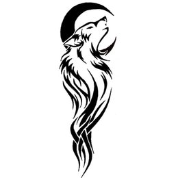 $enCountryForm.capitalKeyWord UK - 16*5.2cm WOLF AND MOON ANIMALS NEW SET DECALS STICKERS Handsome And Cool Stickers Car Accessories Motorcycle Helmet Car Styling Car Sticker