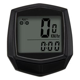 Waterproof Bicycle Mount Australia - Bicycle Wired Stopwatch Small ABS Waterproof Portable Mount Computer Odometer Speedometer Outdoor Cycling Accessories #613259