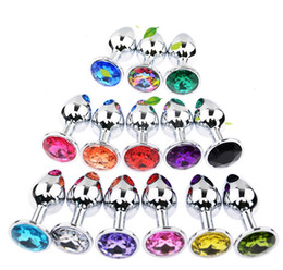 $enCountryForm.capitalKeyWord UK - Factroy Wholesale Stainless Steel Attractive Butt Plug Jewelry   Jeweled Anal Plugs   Rosebud Anal Sex buttplugs 100pcs lot