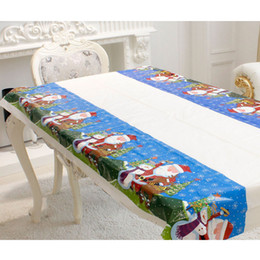 $enCountryForm.capitalKeyWord Australia - 110*180cm Tablecloth Disposable Christmas Rectangular Printed PVC Cartoon Tablewear Fancy tablecloth 4 Types for Choice