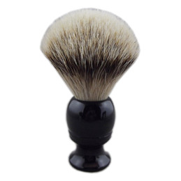 $enCountryForm.capitalKeyWord UK - Silvertip Badger Hair New Style Elegant Black Resin Handle Beard Shaving Brush for Man