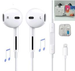 50 PCS Em Fones De Ouvido Com Fio Bluetooth Fone de Ouvido Fone de Ouvido para a Apple IPhone X XR XS Max 8 7 6 6 S Plus 6 5 5 S Fones De Ouvido com Microfone Ouvido telefone venda por atacado