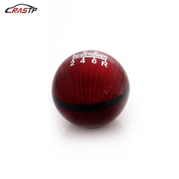 speed gear UK - RASTP-Universal 6 Speed M8X1.25 M10X1.5 M10X1.25 Mugen Red Carbon Fiber Gear Shift Knob For Honda Civic Acura RS-SFN051