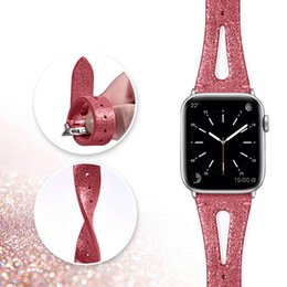 $enCountryForm.capitalKeyWord UK - Leather Waist Slimming Wristband Straps for Apple Watch iWatch Size 38 40mm 42 44mm Bracelet Rubber Watchband for Apple Watch Series 1 2 3 4