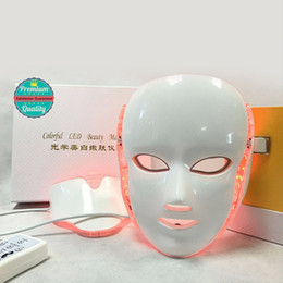 $enCountryForm.capitalKeyWord NZ - Photon LED Face and Neck Mask 7 Color LED Treatment Skin Whitening Firming Facial Beauty Mask Electric Anti-Aging Mask