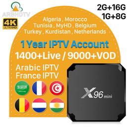 Arabic Tv Boxes Australia - Iptv France X96 mini Android Tv Box With IPTV Subscription Arabic Belgium Algeria Turkey iptv For Android Box Free test