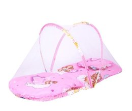 Baby Bedding Mosquito Net Australia - Baby Mosquito Net Tent Portable Foldable Baby Kids Infant Bed Dot Zipper Mosquito Net Tent Crib Sleeping Cushion